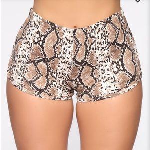 SNAKESKIN print FASHION NOVA stretchy shorts